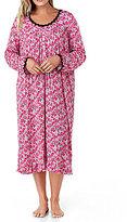 Eileen West Plus Floral Waltz Nightgown