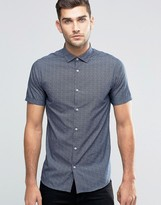 Jack and Jones Mini Polka Short Sleeve Shirt