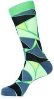 Jared Lang Mosaic Crew Socks