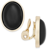 Charter Club Gold-Tone Colored Stone Clip-On Stud Earrings, Only at Macy's