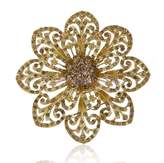 DatConShop(TM) 1 Fashion Wedding Bride Decor Flower Brooch Pin Gold Alloy Jewelry Gift