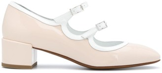 Carel Mary Jane patent-effect pumps