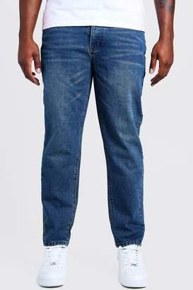 BoohoomanBoohooMAN Mens Blue Big & Tall Slim Fit Rigid Jean, Blue