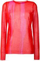 Nina Ricci drip graphic jumper
