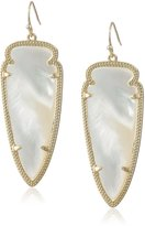 """Kendra Scott Signature 2015"""" Gold and Ivory Mother-Of-Pearl Skylar Drop Earrings"""