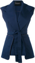 Erika Cavallini - belted vest - women - Cotton - 40