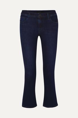 J Brand Selena Cropped Flared Jeans - Dark denim
