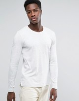 Selected Slubbed Long Sleeve Pocket T-Shirt