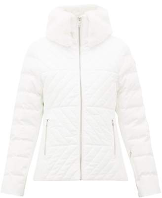 Fusalp - Poudreuse Faux Fur-collar Quilted-down Ski Jacket - Womens - Cream