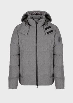 Ea7 Jacket With Full-Length Zip And Hood