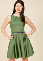 ModCloth Luck Be a Lady A-Line Dress in Fern in 8 (UK)
