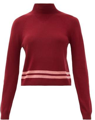 LNDR Arctic Mock-neck Merino Wool Sweater - Womens - Burgundy