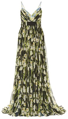 Carolina Herrera Layered Floral Gown