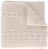 N.Peal wide cable knit scarf