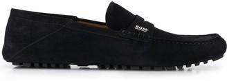 BOSS logo penny loafers