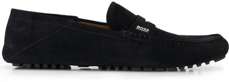 HUGO BOSS Logo Penny Loafers