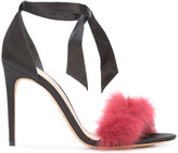 Alexandre Birman Clarita sandals - women - Leather/Rabbit Fur/Satin - 8