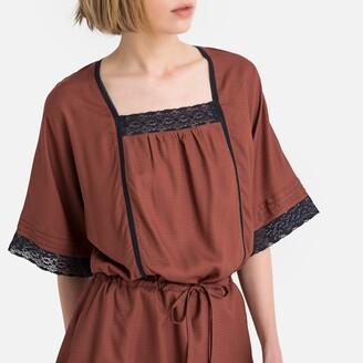 La Redoute Collections Tie-Waist Lace Trim Dress