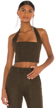 LaQuan Smith Caitlyn Halter Top