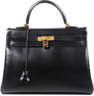 Hermes So Black Box Calf Leather Kelly Retourne 35 Ghw