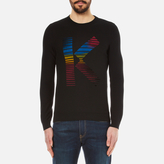 Kenzo K Flock Cotton Knitted Jumper Black