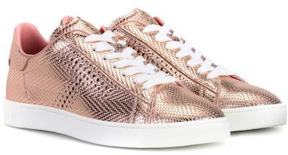 Tod's Metallic leather sneakers