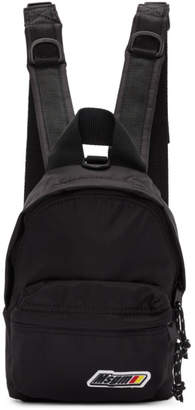 MSGM Black Mini Logo Backpack