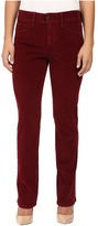 NYDJ Petite Petite Marilyn Straight Jeans in Corduroy in Antique Ruby