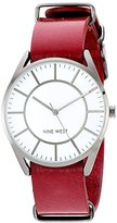 Nine West Women's Quartz Metal and Polyurethane Dress Watch, Color:Red (Model: NW/1943WTRD)