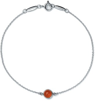 Tiffany & Co. Elsa Peretti Color by the Yard bracelet in silver with orange chalcedony