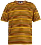 Junya Watanabe Contrast-back striped cotton-jersey T-shirt