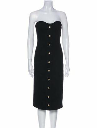 Veronica Beard Strapless Knee-Length Dress Black