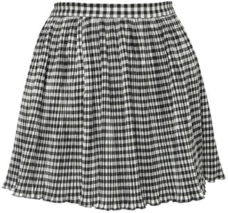 RED Valentino Pleated Wool Blend Mini Skirt