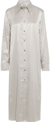 Acne Studios Satin Midi Shirt Dress