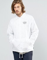 Vans Torrey Coach Jacket In White V002mu07f
