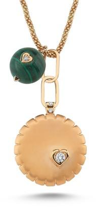 Dragon Optical Selda Jewellery Necklace With White Diamond & Malachite