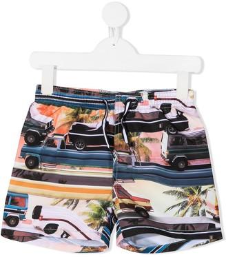 Molo Kids Photograph-Print Swim Shorts