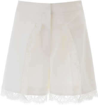 Alexander McQueen Shorts With Lace Inserts