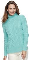 Croft & Barrow Women's Turtleneck Cable-Knit Sweater