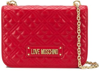 Love Moschino quilted flap shoulder bag
