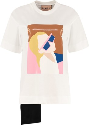 Plan C Printed Cotton T-shirt