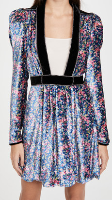 Philosophy di Lorenzo Serafini Velvet Floral Mini Dress
