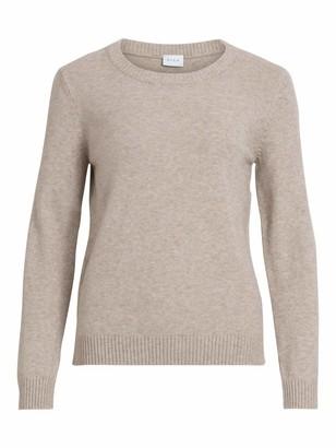 Vila Women's VIRIL O-Neck L/S Knit TOP - NOOS Sweater
