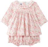 Petit Bateau Printed dress and matching bloomers