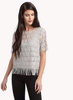 Ella Moss Margo Crochet Fringe Top