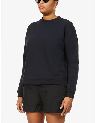 Ganni Dropped-shoulder recycled-cotton and recycled-polyester blend sweatshirt