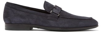 Tod's Suede Loafers - Mens - Navy