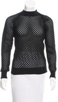 Carven Open-Knit Crew Neck Sweater w/ Tags
