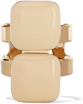 Marni Gold-plated, resin and horn cuff