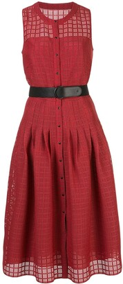 Akris Punto cut-out belted dress